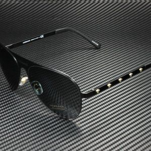Versace Blacked Matte w/ Silver Emblems 59mm Women